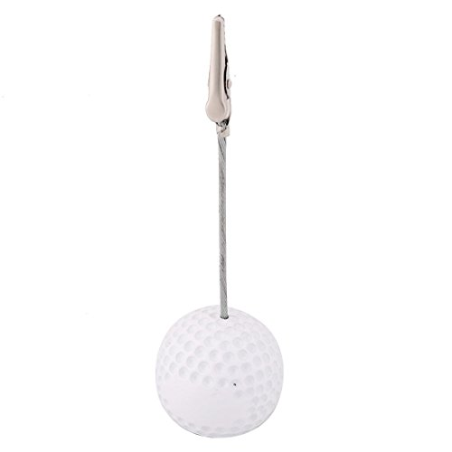 uxcell Resin Household Office Golf Ball Shaped Tabletop Decoration Note Paper Memo Clip (Ball Memo Holder)