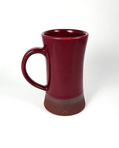 Large Ceramic mug, Plum, Magenta, fuchsia stoneware mug, unique mug, wheel thrown pottery, beer stein, coffee mug, Merlot, Muave, tall ()