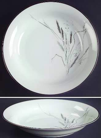 (Rosenthal Selb Plossberg Bavaria Germany Ceres Wheat Platinum Trim 8 3/8