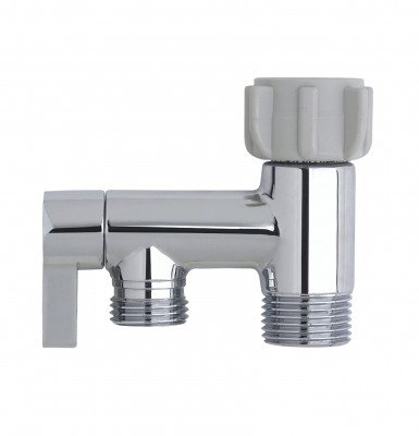 RinseWorks - Aquaus Bidet Sprayer Metal/Brass T- Adapter Connector for Toilet - NSF Certified - 3-Year Warranty - American Made