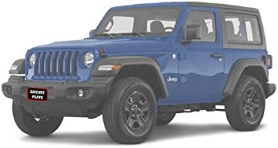 Except Sahara and Rubicon STO N SHO Front License Plate Bracket for 2018-2020 Jeep Wrangler JL and 2020 Jeep Gladiator Sport//Sport S with Plastic Bumper