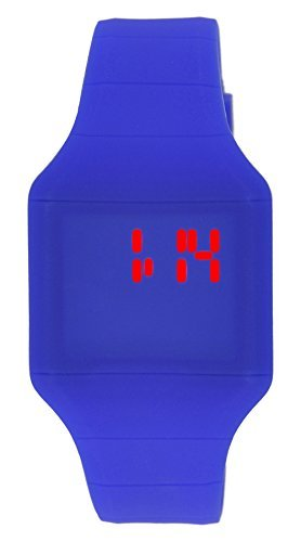 Moulin Boys LED Touch Activated Cobalt Silicone Watch with Stainless Steel Back #03088.76901