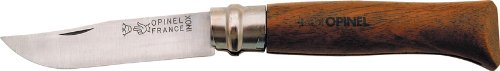 """Opinel Knives 00648 4 3/8"""" Folding Clip Point Knife with Walnut Handle"""