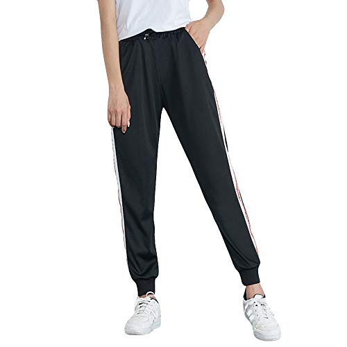 Ladies Trousers Hot Sale,DEATU Womens Mid-Waist Casual Striped Multi-choice Jogger Sports Pants Harem Pants ()