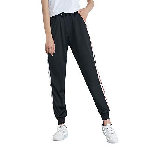 Ladies Trousers Hot Sale,DEATU Womens Mid-Waist Casual Striped Multi-choice Jogger Sports Pants Harem Pants Trousers(Black7,L)
