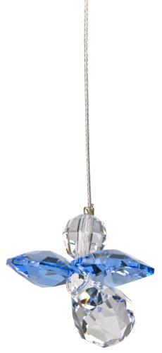 Woodstock Crystal Guardian Angel, September Sapphire- Rainbow Maker Collection (Sapphire Hanging)