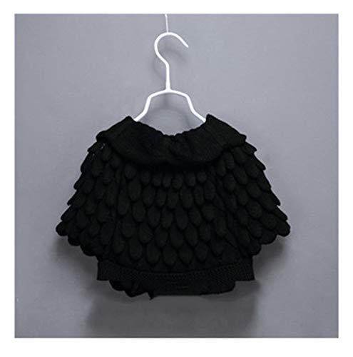Gail Jonson Cardigan Spring Cute Batwing Sleeve Pineapple Knitting Wool Sweater Coat Girls Outwear Black 4T by Gail Jonson