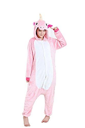 Grilong Unisex Adult Animals Pajamas Onesie Cosplay Costume Cute Sleepwear, X-Large2_pink Unicorn ()