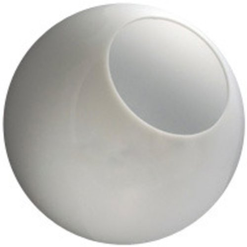 12 in. White Acrylic Globe - 5.25 in. Opening - Neckless Cut - American PLAS-12PW