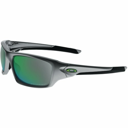 Oakley Valve Polarized Iridium Rectangular Sunglasses,Dark Grey,60 mm