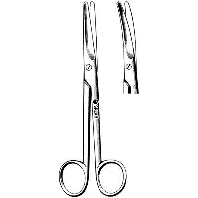 Sklar Instrument 15-2567 Mayo Dissecting Scissors, Curved, Blunt/Blunt, 6-3/4'' Length