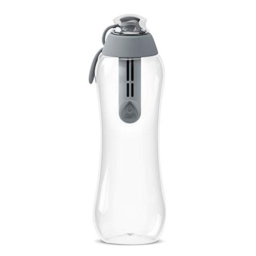 Dafi Water Bottle with Filter 24 fl oz - Enjoy Filtered, Clean and Tasty Water Anywhere You go - Replace up to 300 Regular Water Bottles (Dafi Water Bottle with Filter 24 fl oz, Gray) (Best Bottled Water To Drink Uk)