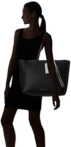 Ck Large Spalla Borse black Shopper Calvin A Klein Base Donna Nero BPgwqxq5