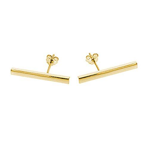 gold bar earrings - 3