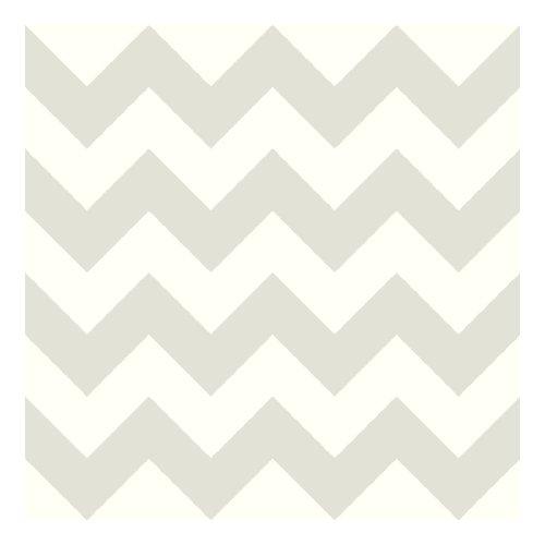 Match Polka Dot Wallpaper (York Wallcoverings KS2308 Cool Kids Chevron Wallpaper, Snow/Pale Grey)