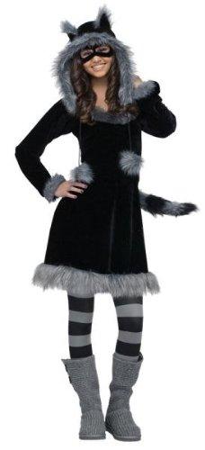 Disfraces para todas las ocasiones FW121713TN dulce mapache adolescentes 0-9