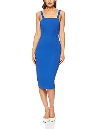 THIRD FORM Women's Banded MIDI Dress, Azure, X-Small