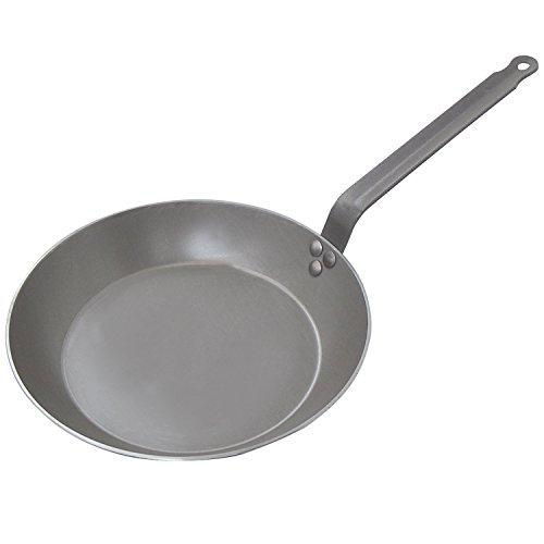 (De Buyer Carbon Steel Frying Pan, Dia. 8-5/8