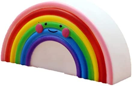 OSALADI luz de noche lámpara de arco iris de dibujos animados ...