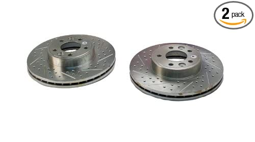 BAER 54060-020 Sport Rotors Slotted Drilled Zinc Plated Front Brake Rotor Set Pair