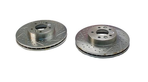 BAER 54060-020 Sport Rotors Slotted Drilled Zinc Plated Front Brake Rotor Set - Pair