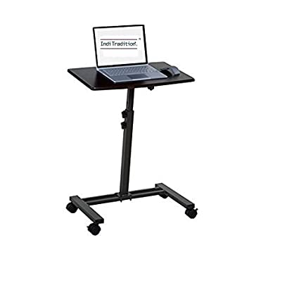 Inditradition Folding Adjustable Height Laptop Table Desk Metal