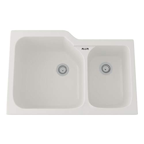 Rohl 6337-00 FIRECLAY KITCHEN SINKS, 33-Inch by 22-Inch, White 00