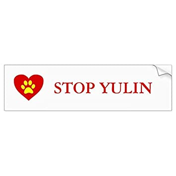 Stop yulin animal awareness bumper sticker sticker graphic beware of dog lover sticker sign
