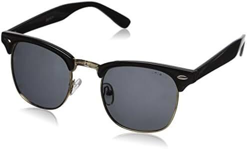 zeroUV Designer Inspired Classic Half Frame Horned Rim Wayfer Sunglasses