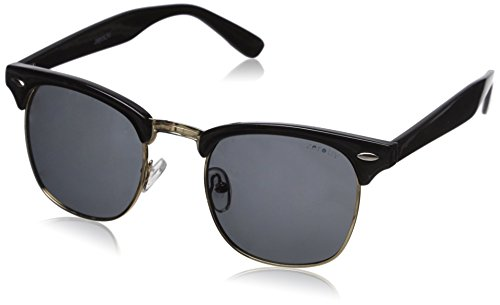 ZeroUV Women's Zv-2936e Polarized Wayfarer Sunglasses, Black, 49 mm