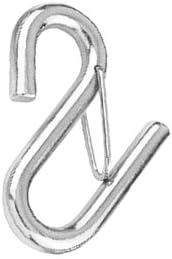 13 mm Edelstahl S-Haken mit Sicherung 112 mm