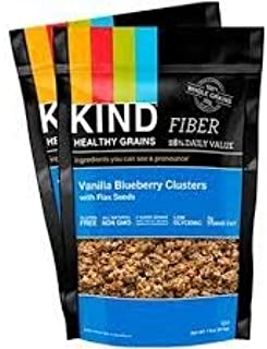 product image for Kind Healthy Grains Clusters, Vanilla Blueberry with Flax Seeds, 11-ounce Bags (Pack of 2)