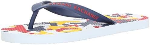 A X Armani Exchange Men's Art Print Flip Flop