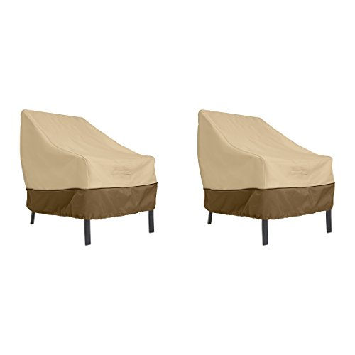 Classic Accessories Veranda Patio Lounge Chair Cover, Large (2-Pack) (Covers Home Depot Outdoor Furniture)