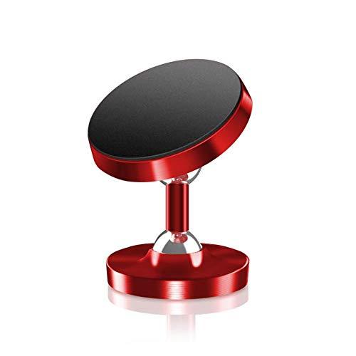 (Magnetic Bracket High Foot Double Ball High-End Gift Bracket Car Phone Holder Metal Bracket,Red)