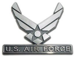 Air Force (Wings) Chrome Auto Emblem