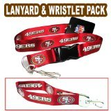 - Pro Specialties Group NFL San Francisco 49Ers Wristlet Lanyard, Red, One Size
