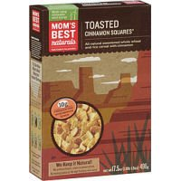 Mom's Best Naturals Toasted Cinnamon Squares Cereal 17.5 (Pack of 14)