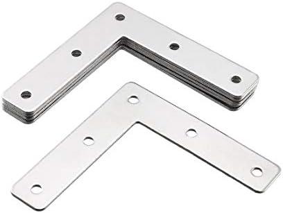Extra Heavy Duty 4 Pack Medium Zinc Plated Steel Corner Brace with Screws 888 Corp