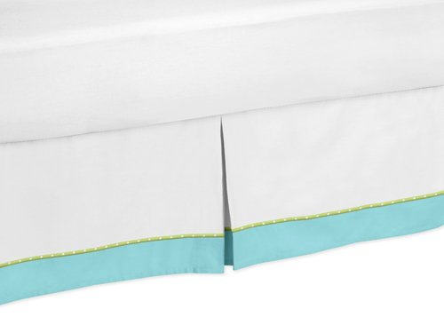 Sweet Jojo Designs Turquoise and Lime Hooty Owl Bed Skirt for Toddler Bedding Sets by Sweet Jojo Designs