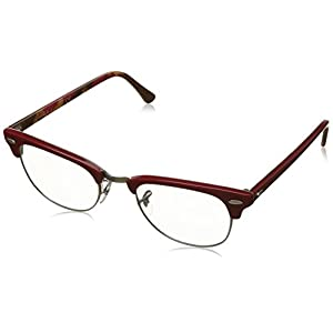 Ray-Ban RX5154 Clubmaster Eyeglasses Red On Texture Camuflage 49mm