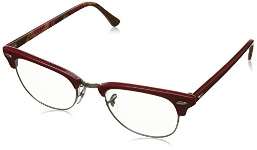 Ray-Ban RX5154 Clubmaster Eyeglasses Red On Texture Camuflage - Ray Frames Ban Red Eyeglass