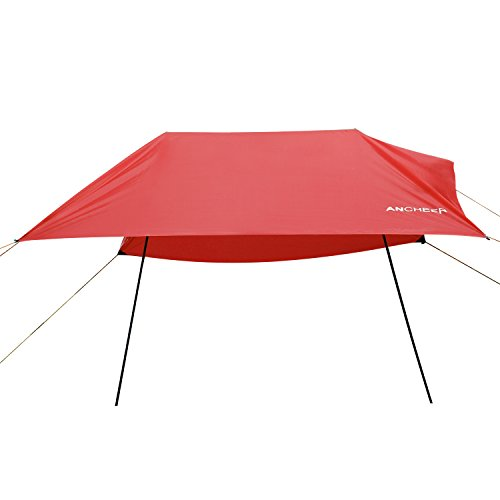 ANCHEER Beach Tent with Sand Poles, Portable Canopy Sun Shelter, 9.8 x 9.8ft - The Original Sunshade Canopy