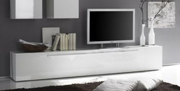 Tv bank weiß  PORTIA TV-Unterteil weiß, Hochglanz lackiert: Amazon.de: Küche ...