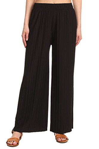 TL Women's Versatile Comfy Wide Leg Long Maternity Palazzo Gaucho Lounge Pants 014_Black OS by TOP LEGGING (Image #3)