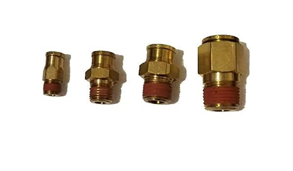 BRASS FITTINGS QUICK CONNECT DOT AIR BRAKE  STRT  MALE CONNECTOR 5//8 T X 1//2 PT