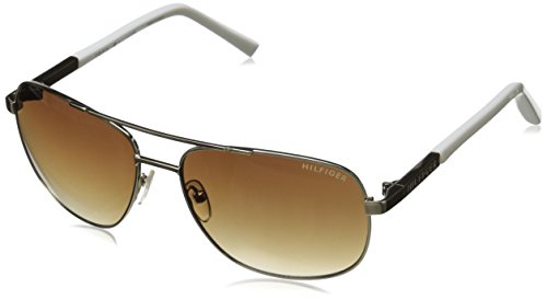 Tommy Hilfiger Women's THS DM91 Rectangular Sunglasses, Gold & Off White, 60 - Sunglasses B&g