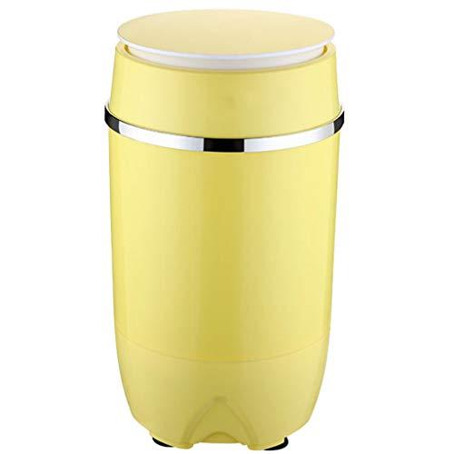 Portable Mini Washing Machine,Durable Design Washer Energy Saving Compact Washing Machine for Apartments Camping 340585 MM (Yellow)