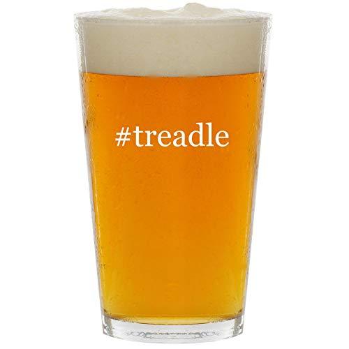 (#treadle - Glass Hashtag 16oz Beer Pint)
