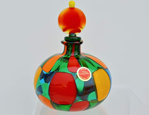 (Murano Glass Authentic Handblown Perfume Bottle, Pazzia Large)
